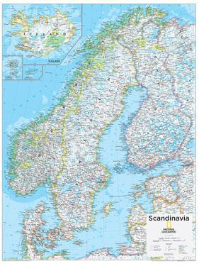 2014 Scandinavia - National Geographic Atlas of the World, 10th Edition by National Geographic Maps