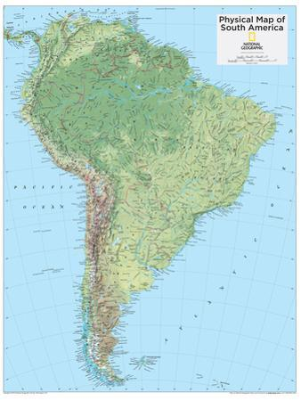 2014 South America Physical - National Geographic Atlas of the World, 10th Edition by National Geographic Maps