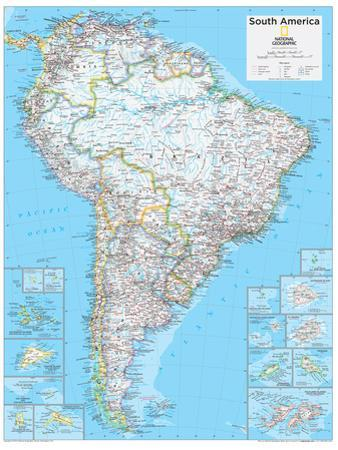 2014 South America Political - National Geographic Atlas of the World, 10th Edition by National Geographic Maps