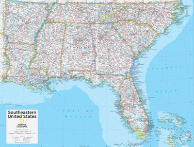 2014 Southeastern US - National Geographic Atlas of the World, 10th Edition by National Geographic Maps