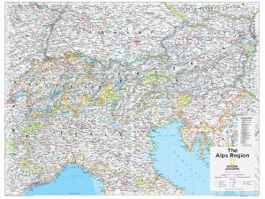 2014 The Alps Region - National Geographic Atlas of the World, 10th Edition by National Geographic Maps
