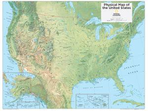 2014 United States Physical - National Geographic Atlas of the World, 10th Edition by National Geographic Maps