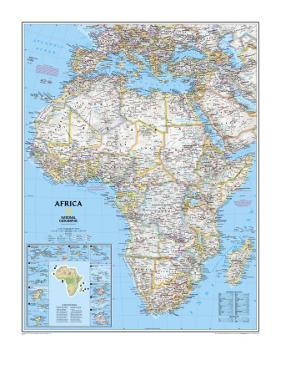 Africa Political Map by National Geographic Maps