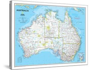Australia Political Map by National Geographic Maps