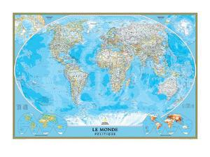 French Classic World Map by National Geographic Maps