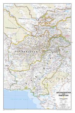 National Geographic - Afghanistan / Pakistan Map Laminated Poster by National Geographic Maps