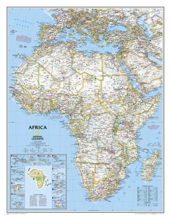 National Geographic - Africa Classic Map, Enlarged & Laminated Poster by National Geographic Maps