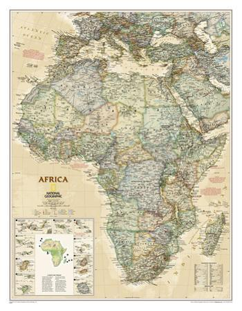 National Geographic - Africa Executive Map Laminated Poster by National Geographic Maps