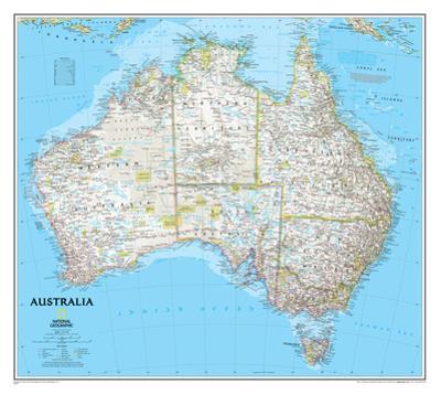 National Geographic - Australia Classic Map Laminated Poster by National Geographic Maps