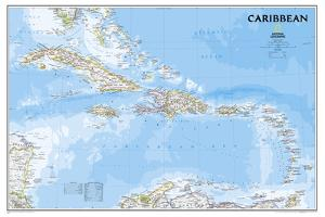 National Geographic - Caribbean Classic Map Laminated Poster by National Geographic Maps