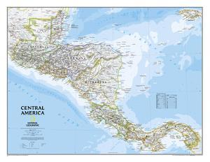 National Geographic - Central America Classic Map Laminated Poster by National Geographic Maps