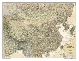 National Geographic - China Executive Map Laminated Poster by National Geographic Maps