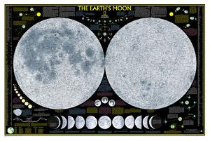 National Geographic - Earth's Moon Map Laminated Poster by National Geographic Maps