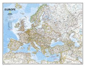 National Geographic - Europe Classic Map, Enlarged & Laminated Poster by National Geographic Maps