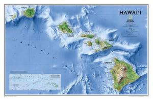 National Geographic - Hawaii Map Laminated Poster by National Geographic Maps
