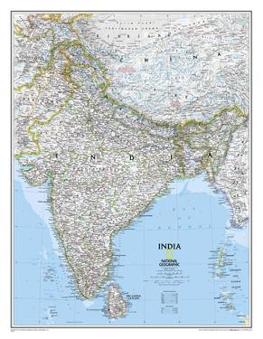 National Geographic - India Classic Map Laminated Poster by National Geographic Maps