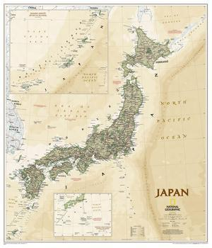 National Geographic - Japan Antique Map Poster by National Geographic Maps