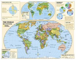 National Geographic - Kids Beginners World Education Map (Grades K-3) Giant Poster by National Geographic Maps