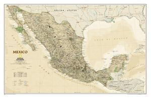 National Geographic - Mexico Executive Map Laminated Poster by National Geographic Maps