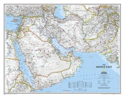 National Geographic - Middle East Map Laminated Poster by National Geographic Maps