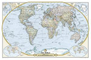 National Geographic - National Geographic 125th Anniversary World Map Map by National Geographic Maps