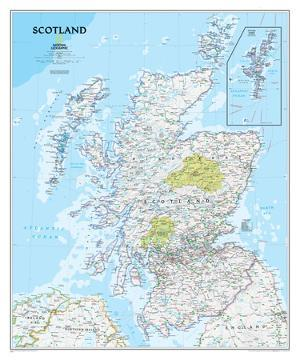 National Geographic - Scotland Classic Map Laminated Poster by National Geographic Maps