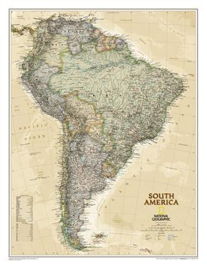 National Geographic - South America Executive Map Laminated Poster by National Geographic Maps