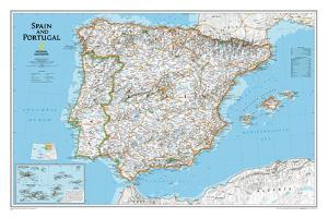 National Geographic - Spain & Portugal Classic Map Laminated Poster by National Geographic Maps