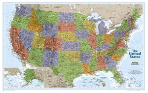 National Geographic - United States Explorer Map Laminated Poster by National Geographic Maps