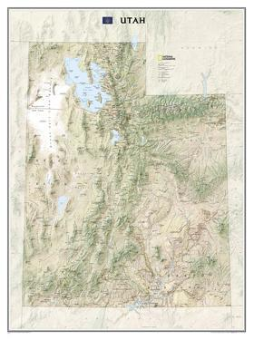 National Geographic - Utah Map Laminated Poster by National Geographic Maps