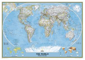 National Geographic - World Classic Map Laminated Poster by National Geographic Maps