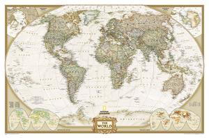 National Geographic - World Executive Map Laminated Poster by National Geographic Maps
