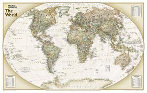 National Geographic - World Explorer Executive Map Laminated Poster by National Geographic Maps