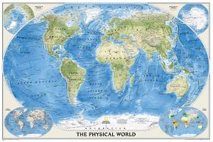 National Geographic - World Physical Map Laminated Poster by National Geographic Maps