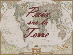 Paix sur la Terre by National Geographic Maps