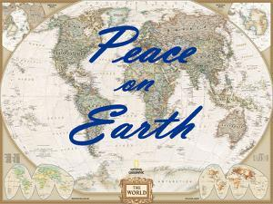 Peace on Earth - World Map by National Geographic Maps