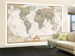 Spanish Executive World Map by National Geographic Maps