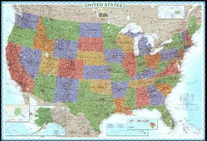 United States Explorer Map by National Geographic Maps