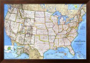 United States Map 1993 by National Geographic Maps
