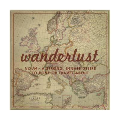 Wanderlust - 1915 Europe Map with Africa and Asia Map by National Geographic Maps