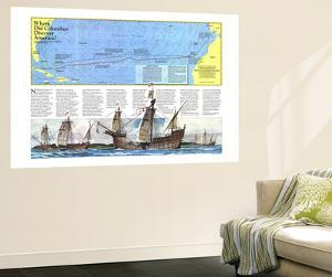Where Did Columbus Discover America  Map 1986 by National Geographic Maps