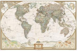 World Political Map, Executive Style by National Geographic Maps