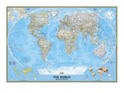 National Geographic World Political Map.Affordable National Geographic Maps Posters For Sale At Allposters Com