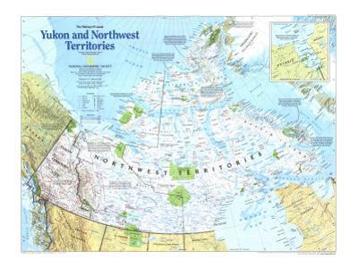 Yukon And Northwest Territories Map 1997 by National Geographic Maps