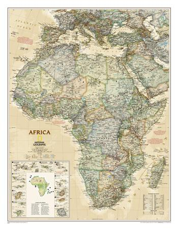 Maps of Africa Posters at AllPosterscom
