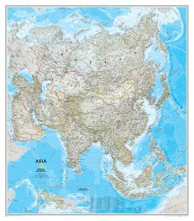 National Geographic - Asia Classic Map Laminated Poster
