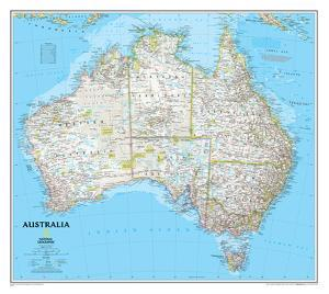 Maps of australia posters at allposters national geographic australia classic map laminated posternational geographic gumiabroncs Choice Image
