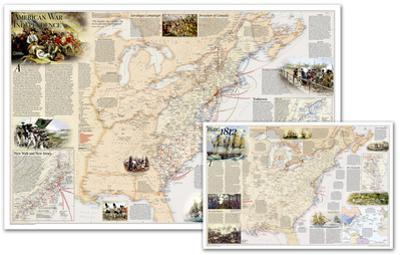 National Geographic - Battles of the Revolutionary War and War of 1812 Map, Two-Sided Laminated Pos