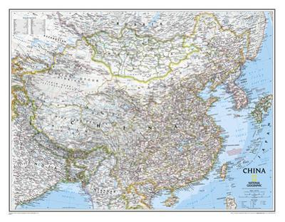 National Geographic - China Classic Map Laminated Poster