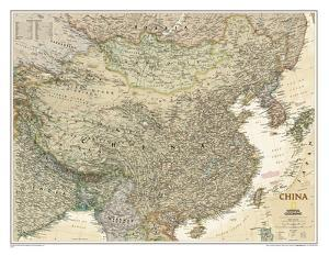 Maps of asia natl geo posters for sale at allposters national geographic china executive map laminated poster gumiabroncs Image collections